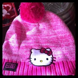 NWOT darling Hello Kitty pink knit hat